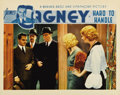 "Movie Posters:Comedy, Hard To Handle (Warner Brothers, 1933). Lobby Card (11"" X 14""). James Cagney is shown to the door of his girlfriend, Mary Br..."