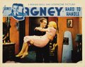 "Movie Posters:Comedy, Hard To Handle (Warner Brothers, 1933. Lobby Card (11"" X 14"").Wonderful scene card depicting James Cagney carrying Mary Bri..."