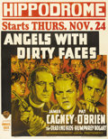 "Movie Posters:Drama, Angels with Dirty Faces (Warner Brothers, 1938). Jumbo Window Card(22"" X 28""). Fantastic artwork of James Cagney, Humphrey ..."