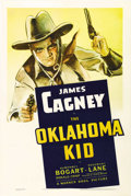 "Movie Posters:Western, The Oklahoma Kid (Warner Brothers, 1939). One Sheet (27"" X 41""). Awonderful image of James Cagney's forceful personality i..."