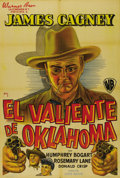 """Movie Posters:Western, The Oklahoma Kid (Warner Brothers, 1939). Argentinian One Sheet (29"""" X 43""""). James Cagney and Humphrey Bogart star in this t..."""