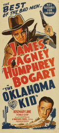 """Movie Posters:Western, The Oklahoma Kid (Warner Brothers, R-1949). Australian Daybill (13"""" X 30""""). James Cagney and Humphrey Bogart bring their gan..."""