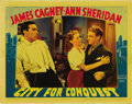 """Movie Posters:Drama, City for Conquest (Warner Brothers, 1940). Lobby Card (11"""" X 14"""").This title is a 'must have' for all boxing collectors. He..."""