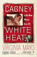 "Movie Posters:Crime, White Heat (Warner Brothers, 1949). One Sheet (27"" X 41""). JamesCagney took his tough-guy gangster persona to a new height ..."