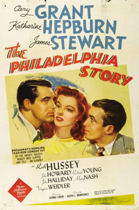 "The Philadelphia Story (MGM, 1940). One Sheet (27"" X 41"") Style D. For over 60 years, this comedy's regard has..."