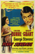 "Movie Posters:Drama, Penny Serenade (Columbia, 1941). One Sheet (27"" X 41""). Style A.Irene Dunne thinks back over her marriage to Cary Grant as ..."