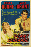 "Movie Posters:Drama, Penny Serenade (Columbia, 1941). One Sheet (27"" X 41"") Style B. George Stevens directs Cary Grant and Irene Dunne in this dr..."