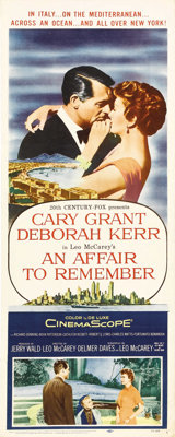 """An Affair to Remember (20th Century Fox, 1957). Insert (14"""" X 36""""). Cary Grant and Deborah Kerr star as the co..."""