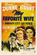 "Movie Posters:Comedy, My Favorite Wife (RKO, 1940). One Sheet (27"" X 41""). Husband andwife Cary Grant and Irene Dunne reunite after she's been st..."