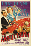 "Movie Posters:Comedy, The Awful Truth (Columbia, 1937). One Sheet (27"" X 41""). Style A.Wonderfully vibrant artwork of Cary Grant and Irene Dunne ..."