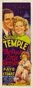 """Movie Posters:Musical, Poor Little Rich Girl (20th Century Fox, 1936). Australian Daybill (15"""" X 40""""). The little rich girl, Shirley Temple, gets l..."""