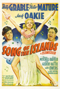 "Movie Posters:Musical, Song of the Islands (20th Century Fox, 1942). One Sheet (27"" X41""). This poster features gorgeous artwork of the incredibly..."