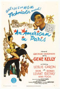 "Movie Posters:Academy Award Winner, An American in Paris (MGM, 1951). One Sheet (27"" X 41""). VincenteMinnelli's musical extravaganza swept the Oscars in 1951 w..."