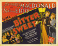 "Movie Posters:Musical, Bitter Sweet (MGM, 1940). Half Sheets (2) (22"" X 28"") Style A and B. Music teacher Carl Linden (Nelson Eddy) and his pupil S... (Total: 2 Items)"