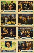 "Movie Posters:Musical, 100 Men and a Girl (Universal, 1937). Lobby Card Set of 8 (11"" X14""). The film literally saved Universal Studios from recei...(Total: 8 Items)"
