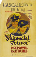"""Movie Posters:Musical, Shipmates Forever (Warner Brothers - First National, 1935). Window Card (14"""" X 22""""). Cute image of Dick Powell and Ruby Keel..."""