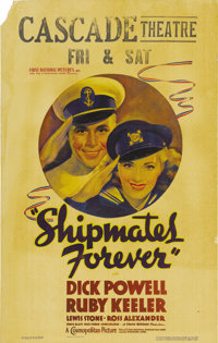 "Shipmates Forever (Warner Brothers - First National, 1935). Window Card (14"" X 22""). Cute image of Dick Powell..."