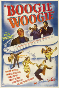 """Boogie Woogie (Paramount, 1945). One Sheet (27"""" X 41""""). The inimitable Robert Benchley allows his children to..."""