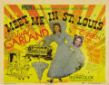 """Movie Posters:Musical, Meet Me in St. Louis (MGM, 1944). Title Lobby Card (11"""" X 14""""). Judy Garland, Margaret O'Brien, Mary Astor and Lucille Breme..."""