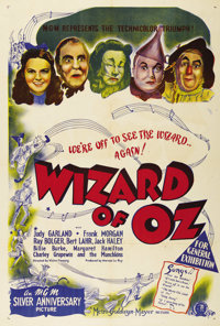 """The Wizard of Oz (MGM, R-1948). One Sheet (27"""" X 41"""") Australian One Sheet (27x40""""). This classic MGM fan..."""