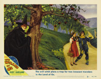 "The Wizard of Oz (MGM, R-1949). Lobby Card (11"" X 14""). Margaret Hamilton was cast as the Wicked Witch of the..."