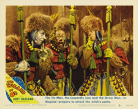 """The Wizard of Oz (MGM, R-1949). Lobby Cards (2) (11"""" X 14""""). Among the sequences shot for the film, but eventu..."""