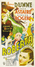 "Movie Posters:Musical, Roberta (RKO, 1935). Three Sheet (41"" X 81""). Posters of any sizefrom pre-1935 musicals have always been extremely difficul..."