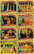"Movie Posters:Musical, You'll Never Get Rich (Columbia, 1941). Lobby Card Set of 8 (11"" X14""). The first of two films co-starring Fred Astaire and...(Total: 8 Items)"