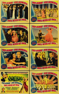 """You'll Never Get Rich (Columbia, 1941). Lobby Card Set of 8 (11"""" X 14""""). The first of two films co-starring Fr..."""