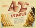 """42nd Street (Warner Brothers, 1933). Title Lobby Card (11"""" X 14""""). Warner Brothers produced this """"behind..."""