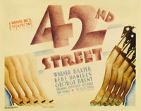 "42nd Street (Warner Brothers, 1933). Title Lobby Card (11"" X 14""). Warner Brothers produced this ""behind..."