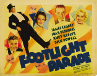 """Footlight Parade (Warner Brothers, 1933). Title Lobby Card (11"""" X 14""""). The images of James Cagney, Joan Blond..."""