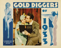 """Gold Diggers of 1933 (Warner Brothers, 1933). Lobby Card (11"""" X 14""""). The story of three out-of-work showgirls..."""