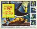 """Movie Posters:Horror, The Pit and the Pendulum (American International, 1961). Half Sheet (22"""" X 28""""). Artist Reynold Brown delivers another exqui..."""
