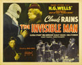 "Movie Posters:Horror, The Invisible Man (Realart, R-1947). Half Sheet (22"" X 28""). JamesWhale directs Claude Rains, Gloria Stuart, Henry Travers ..."