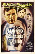 """Movie Posters:Drama, The Man Who Reclaimed His Head (Film Classics, R-1948). One Sheet (27"""" X 41""""). Claude Rains gets back his """"head"""" (his integr..."""