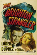 "Movie Posters:Crime, The Brighton Strangler (RKO, 1944). One Sheet (27"" X 41""). JohnLoder plays an actor whose amnesia makes him think that he's..."