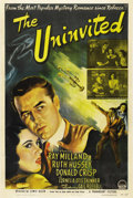 """Movie Posters:Horror, The Uninvited (Paramount, 1944). One Sheet (27"""" X 41""""). Ray Millandand Ruth Hussey star as a brother and sister who buy a h..."""