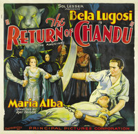 """The Return of Chandu (Principle Pictures, 1934). Six Sheet (81"""" X 81""""). The first of two features that were ed..."""