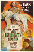 "Movie Posters:Horror, The Mummy's Tomb (Realart, R-1949). One Sheet (27"" X 41""). LonChaney, Jr. dons the moldy bandages for the first time as he ..."