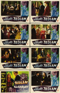 "Movie Posters:Horror, Bedlam (RKO, 1946). Lobby Card Set of 8 (11"" X 14""). Boris Karloffstars as the evil overseer of an insane asylum in London ...(Total: 8 Items)"