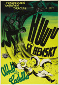 """Movie Posters:Horror, Abbott and Costello Meet Frankenstein (Universal, 1948). Swedish One Sheet (27.5"""" X 39.5""""). Directed by Charles Barton. Star..."""