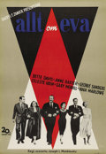 """Movie Posters:Drama, All About Eve (20th Century Fox, 1950). Swedish One Sheet (27.5"""" X39.5""""). Directed by Joseph L. Mankiewicz. Starring Bette ..."""