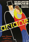 "Movie Posters:Drama, Ariane (Universal, 1931). Swedish One Sheet (27.5"" X 39.5"").Directed by Paul Czinner. Starring Elizabeth Bergner, Rudolf Fo..."