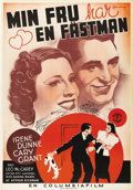 """Movie Posters:Comedy, The Awful Truth (Columbia, 1937). Swedish One Sheet (27.5"""" X39.5""""). Directed by Leo McCarey. Starring Cary Grant, Irene Dun..."""