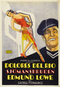 "The Bad One (United Artists, 1930). Swedish One Sheet (27.5"" X 39.5""). Directed by George Fitzmaurice. Starrin..."