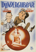 "Movie Posters:Comedy, The Big Noise (20th Century Fox, 1944). Swedish One Sheet (27.5"" X39.5""). Directed by Malcolm St. Clair. Starring Stan Laur..."