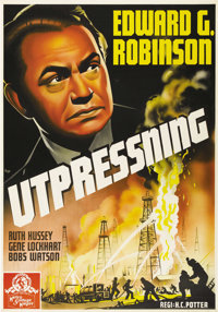 "Blackmail (MGM, 1939). Swedish One Sheet (27.5"" X 39.5""). Directed by H.C. Potter. Starring Edward G. Robinson..."