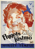 """Movie Posters:Comedy, Bright Eyes (Fox, 1934). Swedish One Sheet (27.5"""" X 39.5"""").Directed by David Butler. Starring Shirley Temple, James Dunn, J..."""