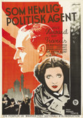"""Movie Posters:War, British Agent (Warner Brothers, 1934). Swedish One Sheet (27.5"""" X39.5""""). Directed by Michael Curtiz. Starring Leslie Howard..."""